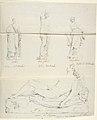 "Sketches of Seven Statues- ""Faith,"" ""Paolo and Francesca di RImini,"" ""Charity,"" ""Roman Matron,"" ""Venus Feleste,"" ""Danyatrice,"" and ""Sleeping Amor"" MET DP804257.jpg"