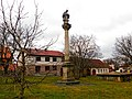 Sloup se sochou svatého Jana Nepomuckého v Křivsoudově (Q37336626).jpg