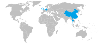Snooker season 2010/2011 - Nations that hosted a World Snooker Tour event during the 2010/2011 season