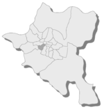 Position of Krasno selo district in Sofia