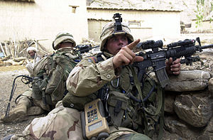 505th Infantry Regiment (United States) - 505th Infantry soldiers take up defensive positions during Operation Enduring Freedom.