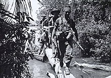 Soldiers during a jungle patrol