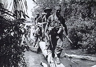 2/43rd Battalion (Australia) - Soldiers from the 2/43rd Battalion patrolling on Labuan, June 1945