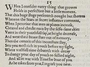 Sonnet 15 - Image: Sonnet 15 1609