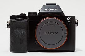Sony Alpha ILCE-7 (A7) full-frame camera with body cap.jpg
