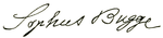 Sophus Bugge signature.png