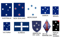 Southern cross appearing on a number of flags.PNG