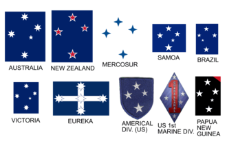 Cruzeiro Esporte Clube - The Southern Cross or Crux, is common on a number of other flags and insignia