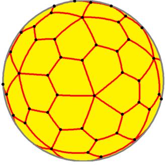 Pentagonal hexecontahedron - Spherical pentagonal hexecontahedron