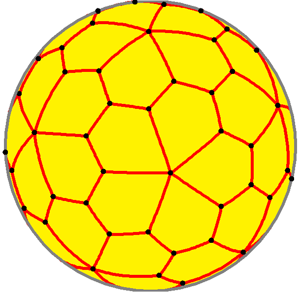 Spherical pentagonal hexecontahedron