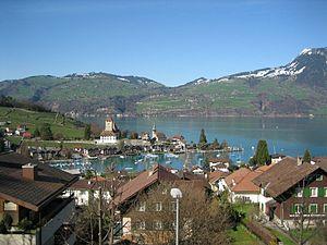 Spiez - Spiez town in 2006