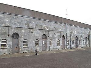 Spike Island, County Cork - North-western accommodation block - later used as a prison