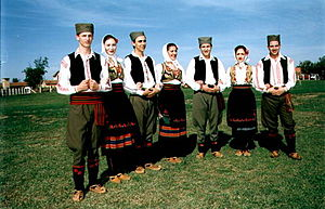 Serbian traditional clothing - Image: Srpska nosnja