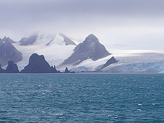 Greenwich Island - Fort Point and St. Kiprian Peak, Greenwich Island from Bransfield Strait