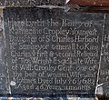 St Andrew, Kilverstone, Norfolk - Ledger slab - geograph.org.uk - 1700097.jpg