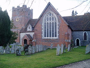 Bramley, Hampshire - Image: St James' church, Bramley