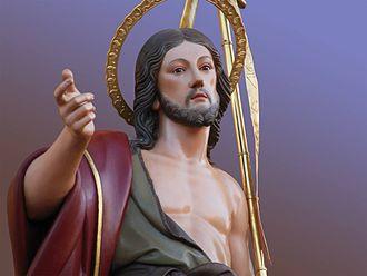 Xewkija - Titular Statue of Saint John