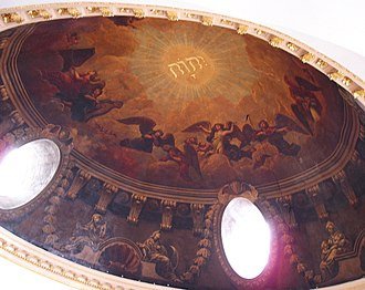 St Mary Abchurch - Painted interior of dome