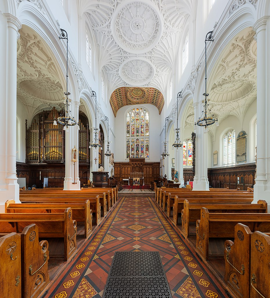 Intérieur de St Mary Aldermary Church à Londres