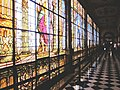 Stained glass hallway at Chapultepec.jpg