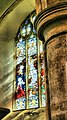 Stained glass window, Chedzoy Church, Somerset (2621822635).jpg