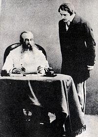 Stanislavski and Kachalov in Ostrovsky's Enough Stupidity in Every Wise Man 1910.jpg
