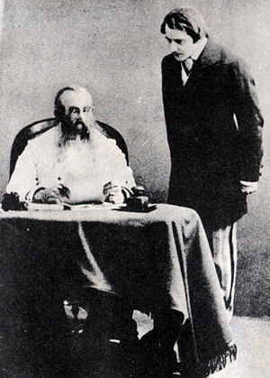Enough Stupidity in Every Wise Man - Stanislavski (left) and Kachalov (right) in the Moscow Art Theatre production in 1910.