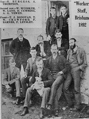 The Worker (Brisbane) - Staff of The Worker, 1892
