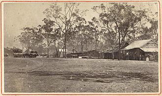 Comet, Queensland - Image: State Lib Qld 1 252786 Early view of Comet, ca. 1878