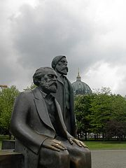 Statues of Karl Marx and Friedrich Engels