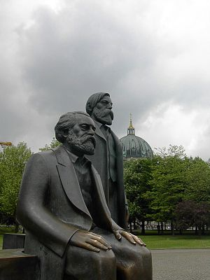 East Berlin - Statues of Marx and Engels, Marx-Engels-Forum