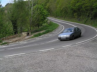 A170 road - Image: Steep bend on Sutton Bank geograph.org.uk 801761
