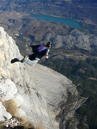 Wingsuit flying - BASE jumping in a wingsuit
