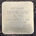 Stolperstein Altonaer Str 7 (Hansa) Therese Meyer.jpg