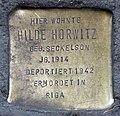 Stolperstein Badstr 61 (Gesbr) Hilde Horwitz.jpg