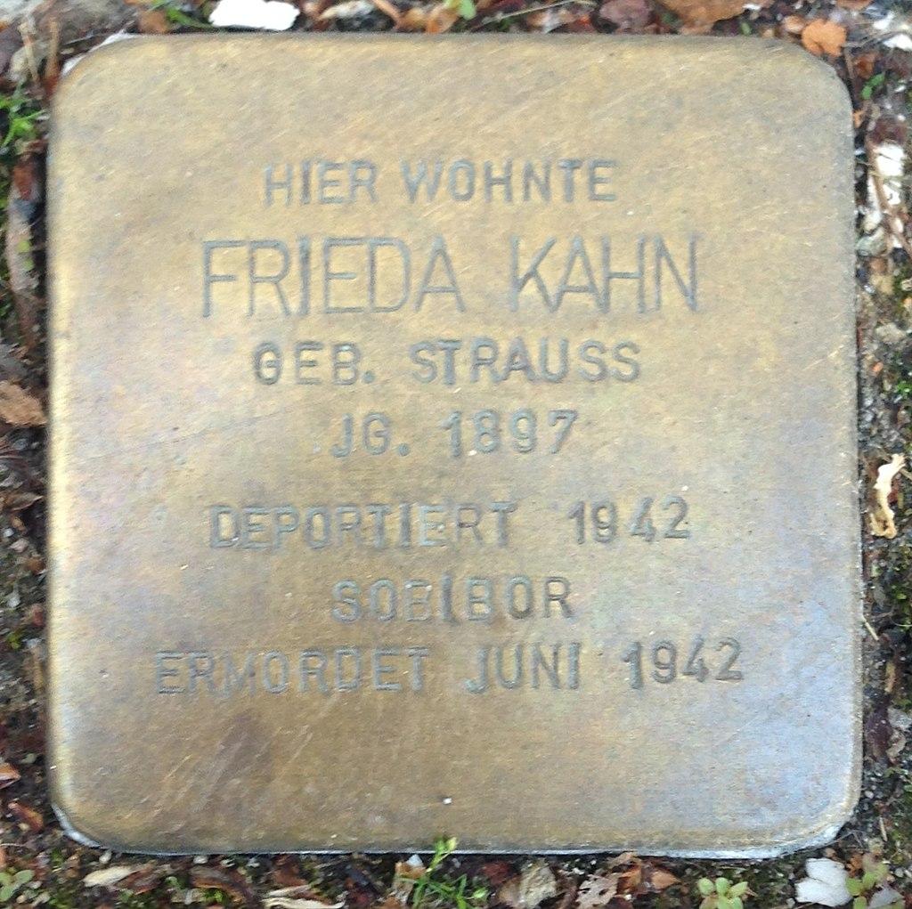 Stolperstein Hadamar Neumarkt 8 Frieda Kahn