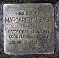 Stolperstein Pariser Str 45 (Wilmd) Margarete Meyer.jpg