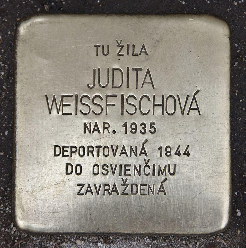 Stolperstein für Judita Weissfischová.jpg
