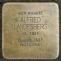 Stolpersteine Köln, Alfred Landesberg (Görresstraße 15).jpg