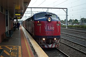 Frankston railway station - Image: Stony Point train at Frankston station