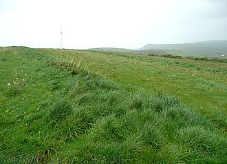 Open-field system - Strip field at Forrabury, Cornwall