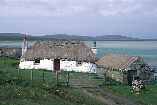 Sollas village on the island of North Uist, Scotland, United Kingdom