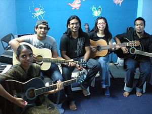 Eastern Fare Music Foundation - Students of Eastern Fare Music Foundation at the Koramangala Branch, 2010