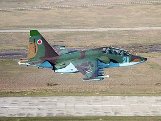 Georgian Air Force -  A Georgian Su-25 in flight