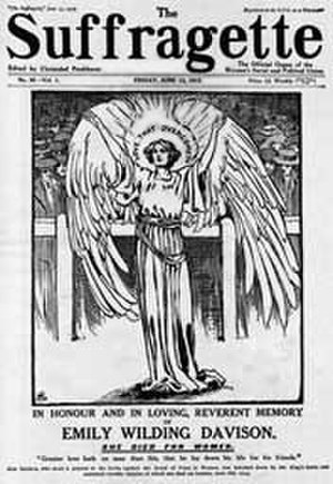 Christabel Pankhurst - Suffragette, Emily Wilding Davison memorial issue of the newspaper edited by Christabel Pankhurst