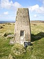 Summit trig and benchmark on Mynydd Melyn - geograph.org.uk - 1800389.jpg