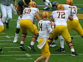 Sun Devils on offense at Arizona State at Cal 2010-10-23 8.JPG