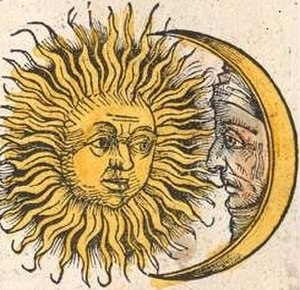 Calendar - Sun and Moon, Schedel's Nuremberg Chronicle, 1493
