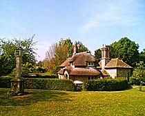 Sundial and Circular Cottage, Blaise Hamlet.jpg