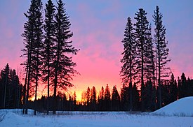 Sunset at Rainbow Lake DSC 0293 (16813278752).jpg